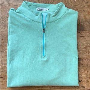 Peter Millar - Quarter-zip green  sweater